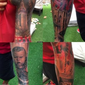 Thierry Henry shows off New York themed tattoo