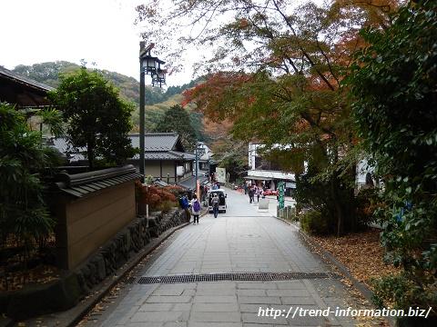 高尾山の山麓の写真。